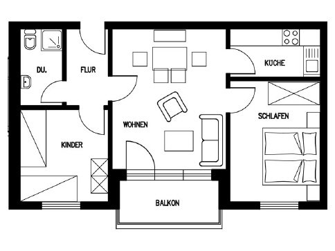 Grundriss wohnung 60 qm  Wohnung Nr. 9